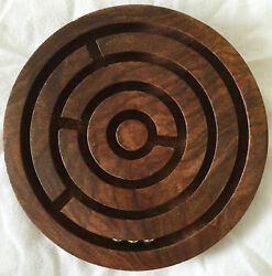 NEW TRADITIONAL WOODEN ROUND MAZE LABYRINTH PUZZLE WITH THREE BALLS 5