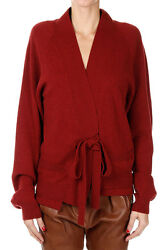 HAIDER ACKERMANN New woman dark Red Wool Cashmere Cardigan Sweater Made In Italy
