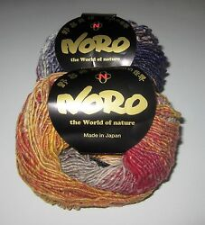 LOT of 10 balls of NORO SHIRO cashmere silk wool dk knitting yarn color #13