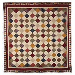 Patch Magic Twin Rustic Cabin Quilt 65in by 85in New