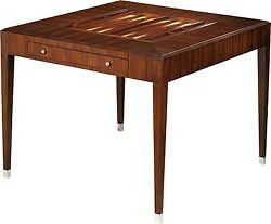 SCARBOROUGH HOUSE GAMES TABLE BACKGAMMON CHECKERS ROSEWOOD MIDMOD DECO