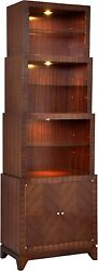 SCARBOROUGH HOUSE BOOKCASE ROSEWOOD DECO MODERN NICKEL BRASS TOUCH DIMMER