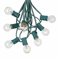 25ft G30 Outdoor Globe Patio String Lights Set of 25 G30 Bulbs- All Colors New