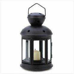 Gifts & Decor Black Colonial Style Candle Holder Hanging Lantern Lamp New