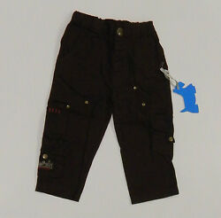RUN SCOTTY RUN Designer Boys Brown Cotton Pants Size 1 BRAND NEW NWT