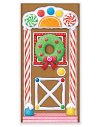 Gingerbread House Christmas Door Cover Indoor Outdoor 30