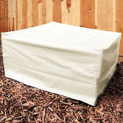 Sunnydaze Square Beige Fire Pit Cover 40in Square 18in Tall New