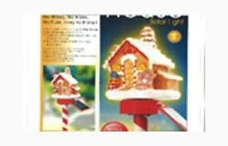 Solar Gingerbread House for Holiday Garden Decoration Outdoor Statue New