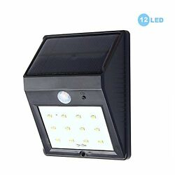 Solar Powered Light Motion Sensor Outdoor Security Lighting Auto OnOff Wireless