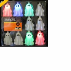 10 Count Halloween Ghost Musical LED Light String Battery Operated Outdoor Light