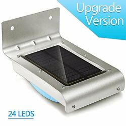 Upgrade 24 LED Imanom Waterproof Solar Motion Sensor Outdoor light Waterproof Au