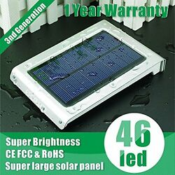 46 led Super bright solar motion sensor light outdoor Waterproof Ultra thin New