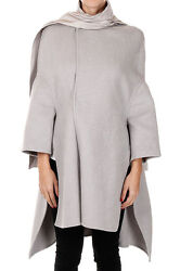 RICK OWENS New woman Cashmere Silk Mantle Coat Made in Italy NWT