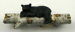 1 Bear Birch Log Resin Lodge Decor Cabinet Door Drawer Pull Furniture Handle