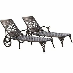 Home Styles Biscayne Chaise Lounge Chair Black