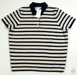 Cashmere Sweater Demylee for JCrew Cashmere Polo Small b1299 $417.50