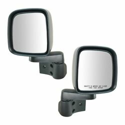 1A Manual Side View Mirrors Folding Pair Set NEW for 03 06 Jeep Wrangler $62.44