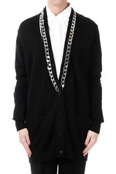 GIVENCHY New woman Black Long Cardigan Cotton Cashmere Made in ITALY