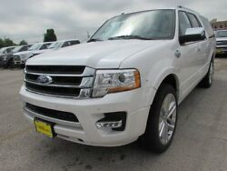 2017 Ford Expedition King Ranch 2017 Ford Expedition EL King Ranch 5 Miles White Platinum Metallic Tri-Coat Spor