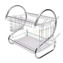 Hot Kitchen Dish Cup Drying Rack Drainer Dryer Tray Cutlery Holder Organizer US $21.99
