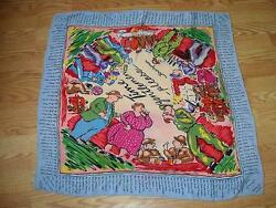 "WWII Propaganda 30"" by 30"" Scarf by Jacqmar Time Gentleman Please"