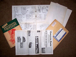 Old Vintage Building Plans! Indooroutdoor fireplaces masonry- great reading!