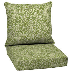 Outdoor Patio High Back Cushion Green Replacement For Deep Seat Chair Furniture