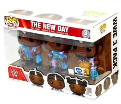 Funko Pop FYE WWE Big E Xavier Woods Kofi Kingston BootyOs New Day 3 Pack Set!