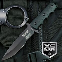 9quot; Navy SEALs Tactical Combat Bowie Knife w SHEATH Military Fixed Blade Survival $12.95