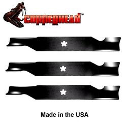 3 Pack Hi Lift Blades fit Craftsman Sears 187254 187256 532187256 for 54quot; Deck $34.27