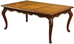 DINING TABLE DAVID MICHAEL RUSTIC ANTIQUE DISTRESSED INLAID TOP SOLID WAL
