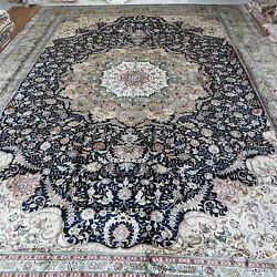 Yilong 14'x20' Silk Handmade Persian Oversize Large Rug Hand knotted Carpet 516A
