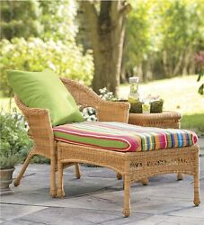 Chaise Lounge Chair Resin Wicker Luxury Home Outdoor Furniture Patio Garden Pool