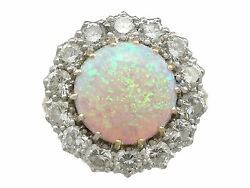 3.55 ct Opal and 2.68 ct Diamond 18Carat Yellow Gold Dress Ring - Contemporary
