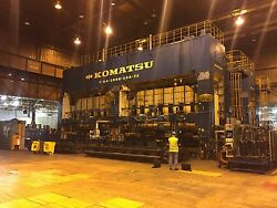 3000-Ton Komatsu 2-Point Mechanical Straight Side Transfer Press