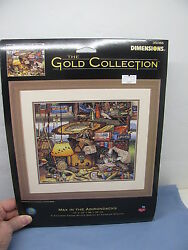 The Gold Collection MAX IN THE ADIRONDACKS Cat Counted Cross Stitch Kit NIB 2002