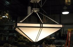 Commercial Pendant Ceiling Fixture Large 6#x27; Value is 21 K Inverted Pyramid