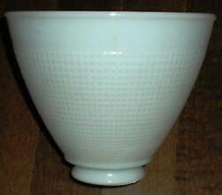LAMP FLOOR SHADE DECO MILK GLASS TORCHIERE DIFFUSER 8quot; $24.99