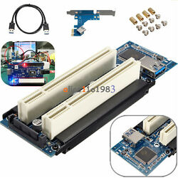 PCI E Express X1 to Dual PCI Riser Extend Adapter Card With USB 3.0 Cable $17.75