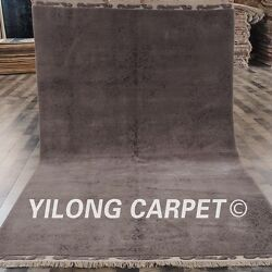 Yilong 5'x8' Abstract Handmade Wool Rug Modern Design Hand-knotted Carpets C63S