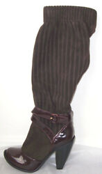MARC JACOBS Brown Suede Leather Slouch Platform Boots 8.5  or 9