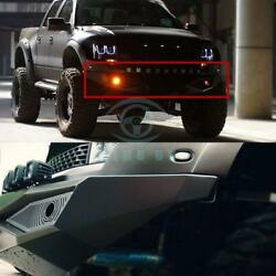 Auto 1pc Front Bumper With LED Light Skid Plate Boards Fit For Ford F150 Raptor