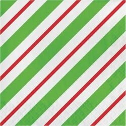 Peppermint Party 16 Ct Luncheon Napkins Christmas Holiday Office $3.59