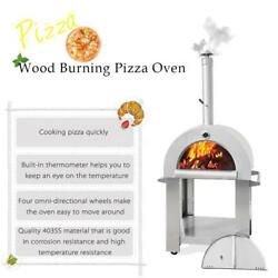 Wood Fired Outdoor Stainless Steel Pizza Oven BBQ Grill 1 Year Warranty F6O7