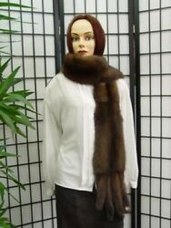 BRAND NEW CANADIAN SABLE FUR SCARF CAPE SHAWL WOMEN 72