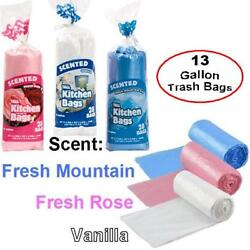 3 Packs 84 total Scented 13 Gallon Garbage Trash Kitchen Bags $12.99
