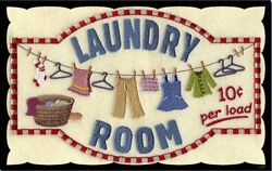 Laundry 10 cents Sign clothes ironing rustic wall decor plaque wooden $14.99