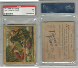 T57 Turkish Trophies Fable Series 1910 The Quack Frog PSA 1