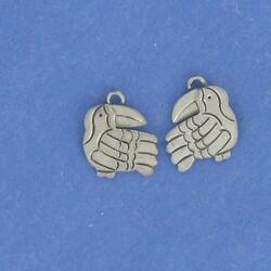Sterling Silver TOUCAN CHARMS  by Far Fetched LOT OF 2