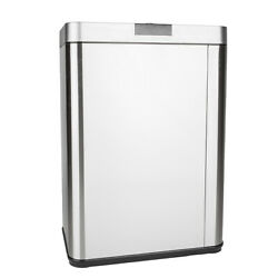 Automatic Touch free Trash Can 13 Gallon Stainless Steel Kitchen Bin Garbage 50R $65.59